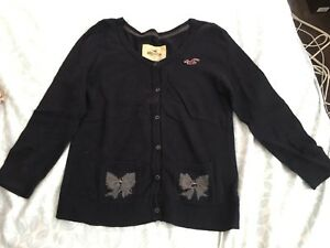 Hollister cardigans navy size S and M