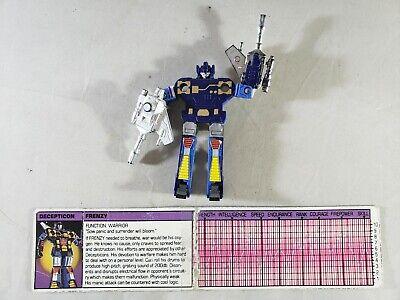 Vintage 1983 Transformers G1 Frenzy 100% Complete Cassette Soundwave Takara