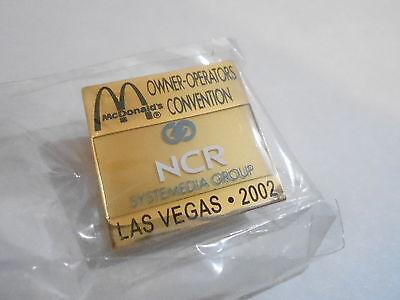 NOS McDonalds Advertising Enamel Pin #69 - 2002 LAS VEGAS - NCR SYSTEMEDIA GROUP