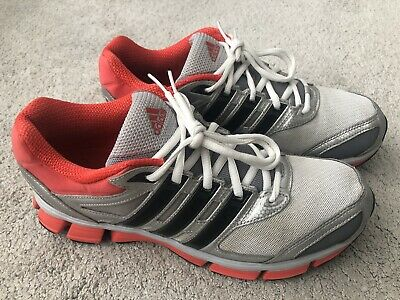 MENS ADIDAS QUESTAR CUSHION 2 RUNNING SHOES - GREY/ORANGE/BLACK - UK 8 / EU 42