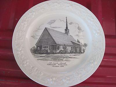 "ALL SAINT'S CHURCH 10""Porcelain Plate..Rehoboth, DE..Good Cond..Homer Laughlin"