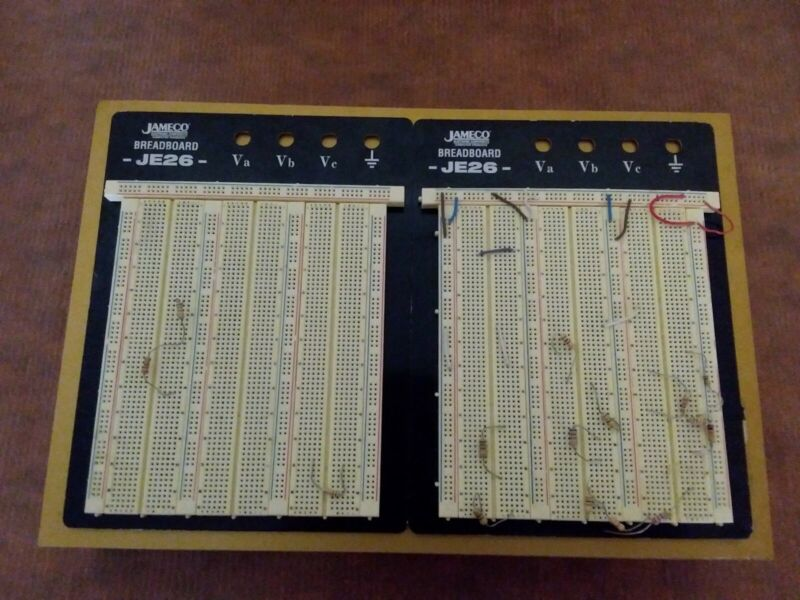 Lot of Jameco Breadboard JE26 dual mounted boards