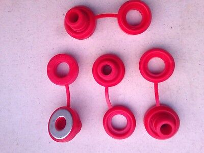 Hi Temp Red Snapper Exhaust Grommet With Washer anti-vibration Insulators-4 Pcs