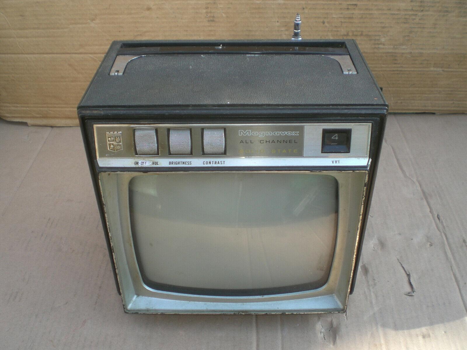 "Vintage Magnavox 8""  B & W  solid state CRT TV"