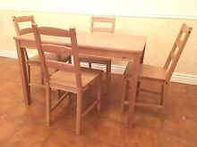 Dining Table and chairs solid wood Moonta Copper Coast Preview