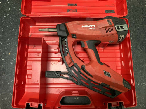 Hilti GX 3 Gas Powered Actuated Tool Fastener with Case