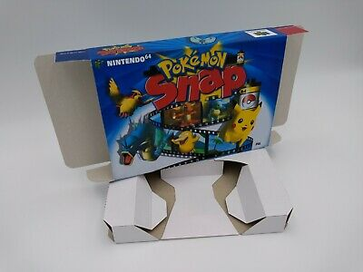 Pokemon Snap - box reproduction with insert - N64 - Pal or NTSC REGION.