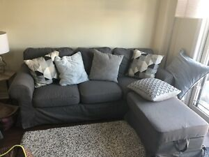Ikea couch and foot stool