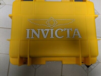 Invicta 8-Slot Dive Case Holds Eight Large Watches Yellow