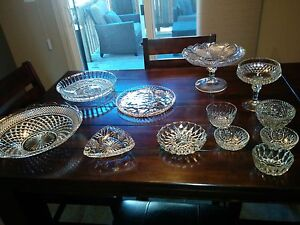 Glass serving dishes and plates.  Kitchener / Waterloo Kitchener Area image 1