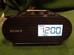 Sony #ICF-C05iP Alarm Clock FM Radio & Charging Dock for iPod iPhone Black