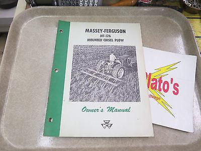 Massey-ferguson Owners Manual Mf 126 Mounted Chisel Plow