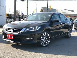 2015 Honda Accord Sedan Sport, power roof, alloys, excellent val