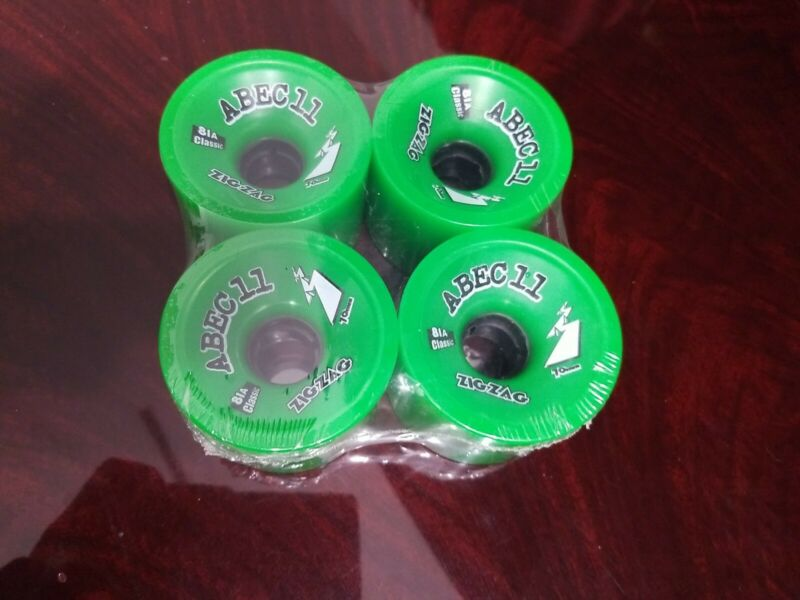 Abec 11 ZigZag Longboard Wheels 70mm Classic 81A Green