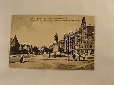 Alte AK, Metz, Kaiser Wilhelm Ring mit Denkmal Friedrich III. um 1900