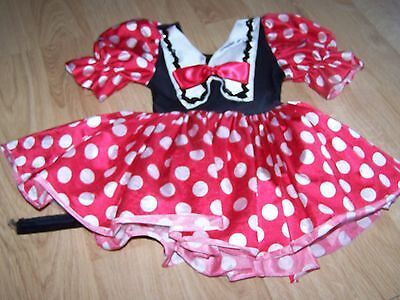 Size Small Wolfe Fording Red White Polka Dot Minnie Mouse Dance Costume Dress - Wölfe Kostüm