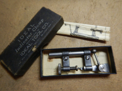 VINTAGE IDEAL INDICATOR WITH CLAMP AND BOX MACHINIST TOOL