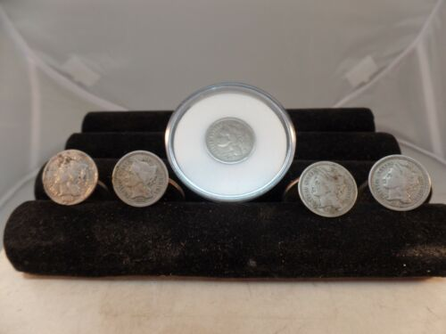 5-Coin 3Cent  NICKEL COINS 1865,66,67,68,74 # C 1575