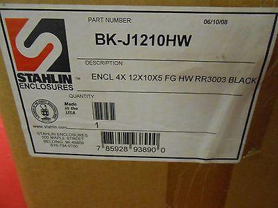 Stahlin Enclosures Bk-j1210hw Black 4x12x10x5 Fiberglass Enclosure - Nib