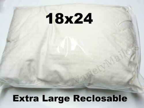 15 EXTRA LARGE 18x24 ZipLock Reclosable Seal-Top Clear Merchandise Storage Bags