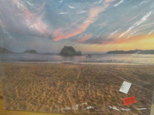 Designart Trodden Sand on Beach at Sunset Art Print on Canvas