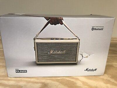 Marshall Kilburn Portable Bluetooth Speaker  Cream  4091190   New