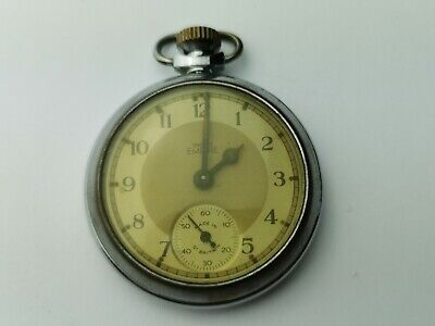 Vintage Smiths Empire Sub-Dial Mechanical Pocket Watch for Repair
