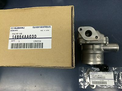 Subaru Secondary Air Suction Valve Kit 2006-14 WRX STi 05-08 Forester XT OEM RH