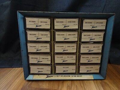 Vintage Zenith 14 Watt 10 Resistor Kit No. 800-625 Guc Akro-mils Metal Case