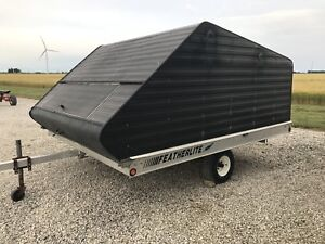 2 bed snowmobile trailer