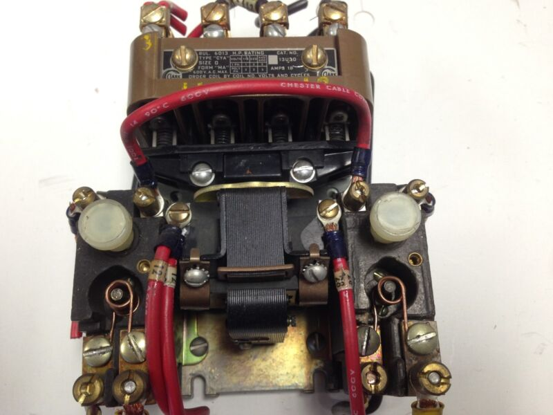 USED CLARK 6013 13U30 MAGNETIC MOTOR STARTER 120V COIL,18A, 600V NEMA 0 3-PH DA