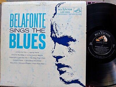 Blues Lp  Harry Belafonte Belafonte Sings The Blues Rca Victor Lop 1006  1958