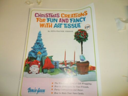 Vintage Christmas Creations for fun and fancy with art tissue - craft book 1967