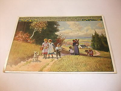 alte Postkarte Ansichtskarte PK AK Künstlerkarte Volksliederkarten von Paul Hey