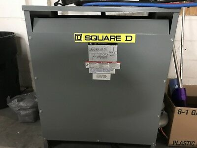 Square D Sorgel 75kva 480277 To 208y120 Volts 75t3h 3ph Dry Type Transformer