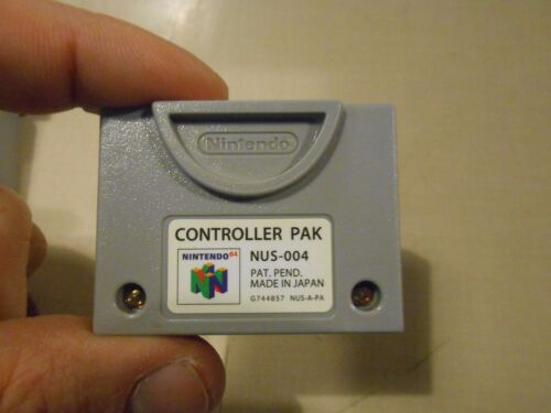 Nintendo 64 N64 Official Memory Card/Controller Pak/Pack AUTHENTIC Tested/Erased