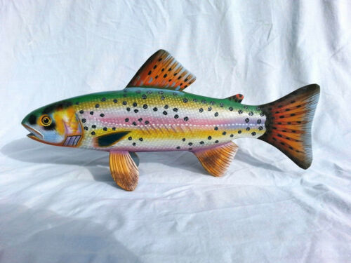 Hand Carved and Painted Lahontan Cutthroat Trout