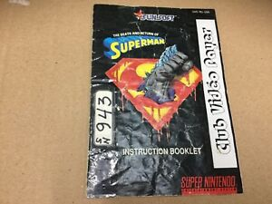 Death and Return of Superman SNES Manula