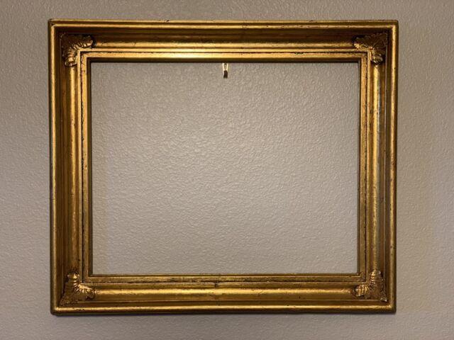 Vintage Lemon Gold Style Gilded Art Painting Frame 13 X 16 Antique?