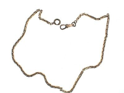 """Vintage BACON Gold Plated POCKET WATCH CHAIN 16"""" good used"""
