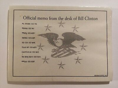 Official Memo Pad from the desk of BILL CLINTON - Novelty Stick Notes  (40) ct.