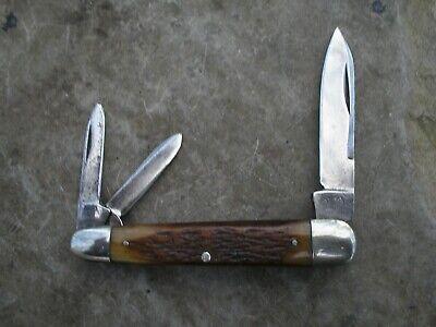 RARE VINTAGE CATTARAUGUS JIG BONE SLEEVEBOARD WHITTLER KNIFE