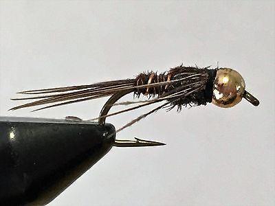 Bead Head Atomic Pheasant Tail size 20 fishing flies One Dozen M2S 12
