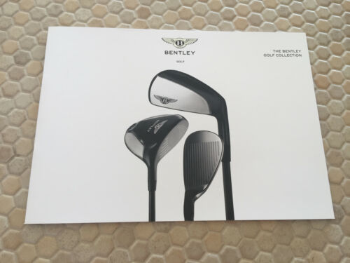 BENTLEY OFFICIAL GOLF CLUB COLLECTION SALES BROCHURE 2018 NEW RARE
