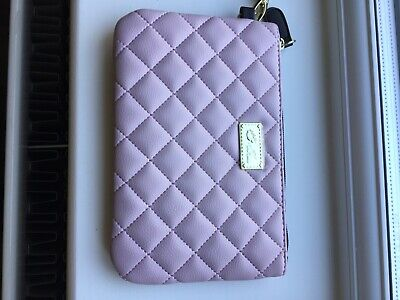 Betsey johnson pink quilted makeup bag/purse new