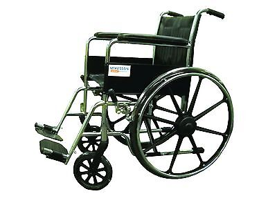 "McKesson 16-7901 Performance 18"" Fixed Fullarm Wheelchair Fixed Footrest Black on Rummage"