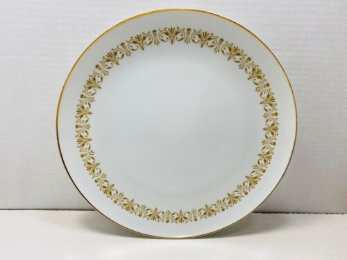 """Sheffield Fine China Japan Imperial Gold Dinner Plate 10 1/2"""" Set of 6"""