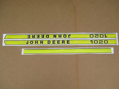 Vinyl Hood Decal Set Kit For John Deere Decals Jd 1020