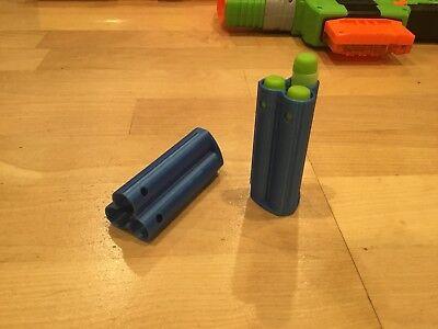 2 Nerf Compatible Zombie Strike Dart Shell Sledge Fire Blaster Sledgefire