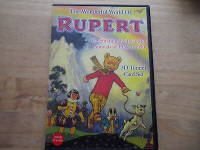 The Wonderful World of Rupert 3D Tunnel Cards CD ROM